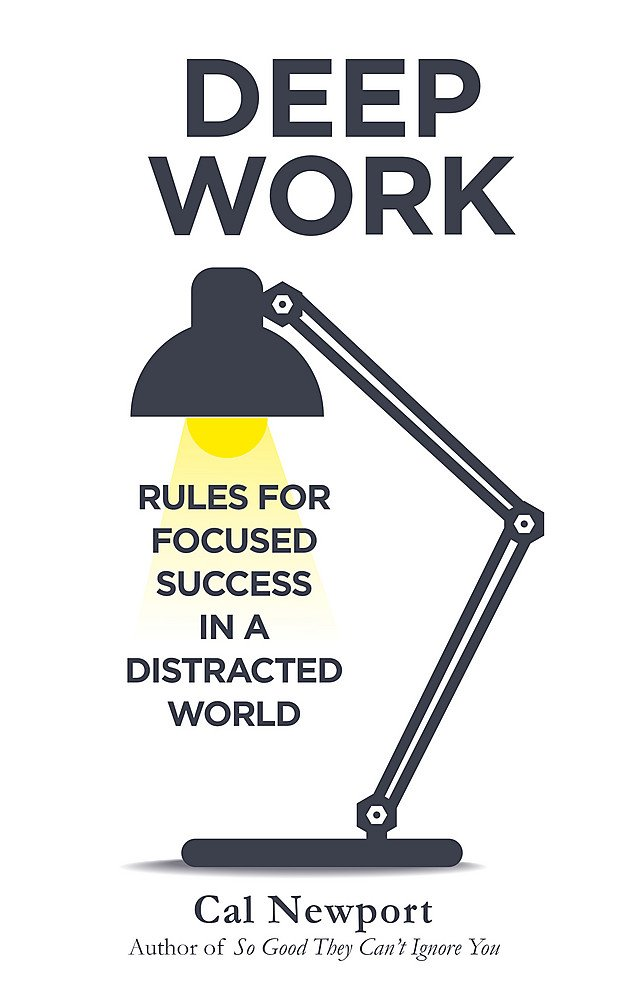 Deep Work book cover by Cal Newport