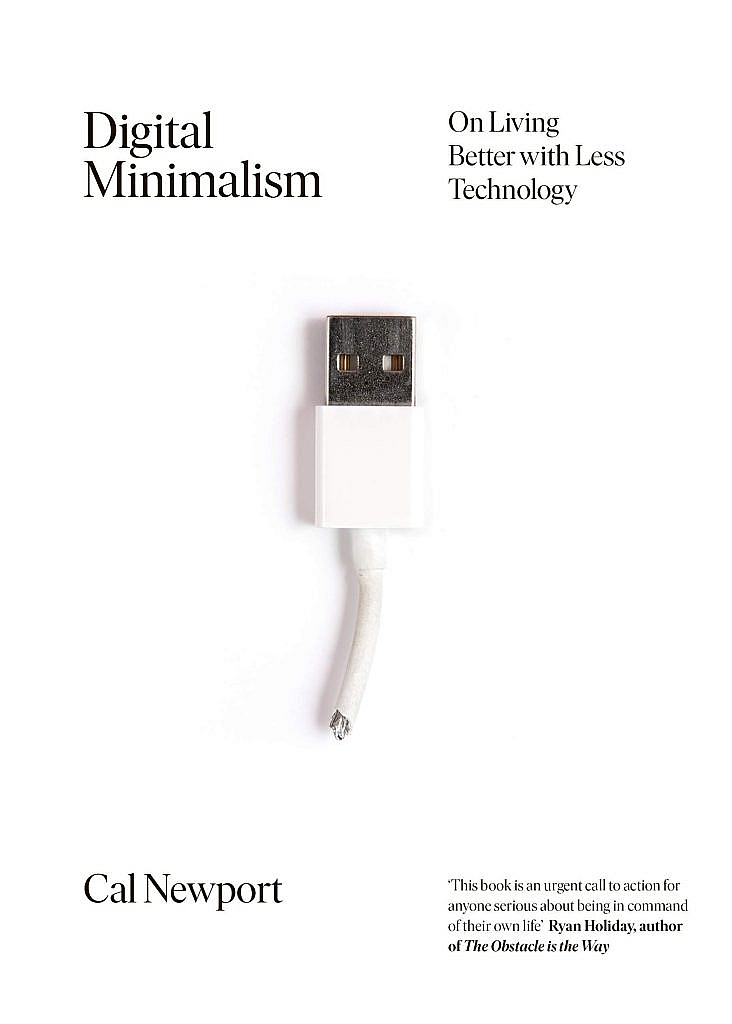 Digital Minimalism book cover by Cal Newport